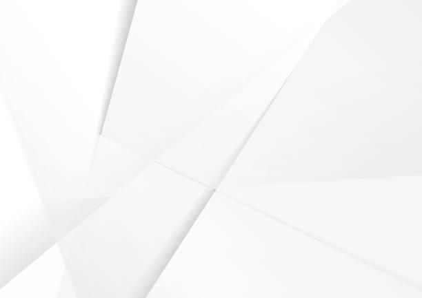 Abstract grey hi-tech polygonal corporate background Abstract grey hi-tech polygonal corporate background. Vector stripes minimal light design white color stock illustrations