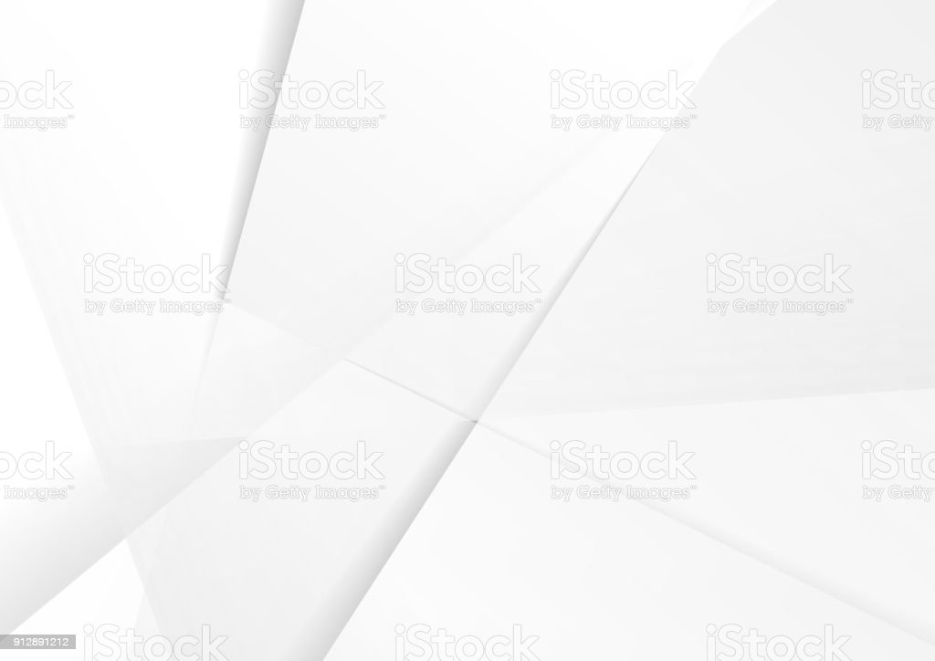 Abstract grey hi-tech polygonal corporate background vector art illustration