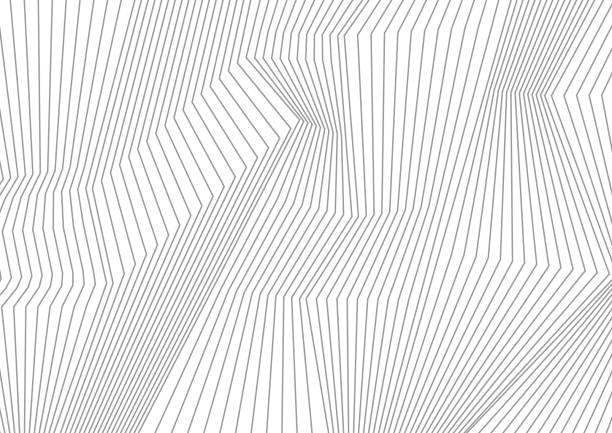 abstract grey lines refraction vector background - kolor tła stock illustrations