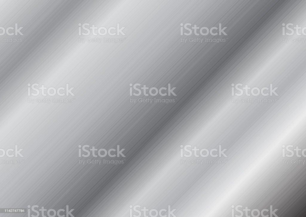 Abstract Grey Metallic Texture Background Stock Vector Art