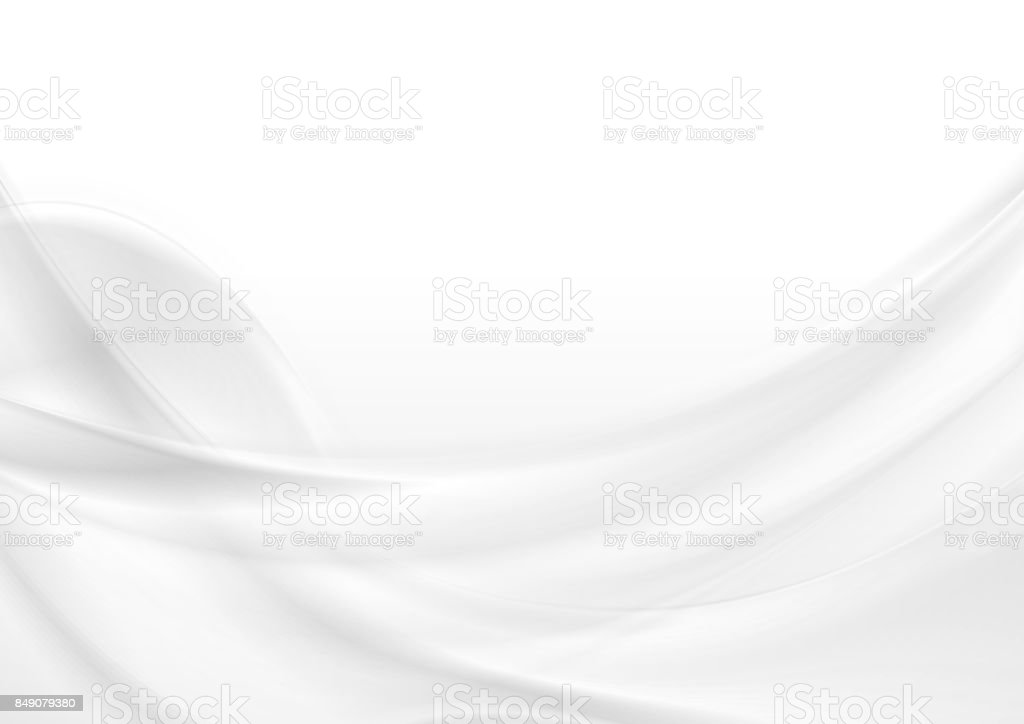 Abstract grey white smooth waves vector art illustration