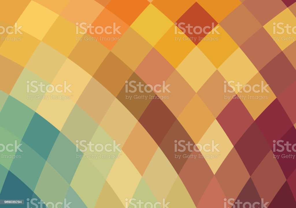 Abstract Grid Geometric Pixel Mosaic Colorful Background