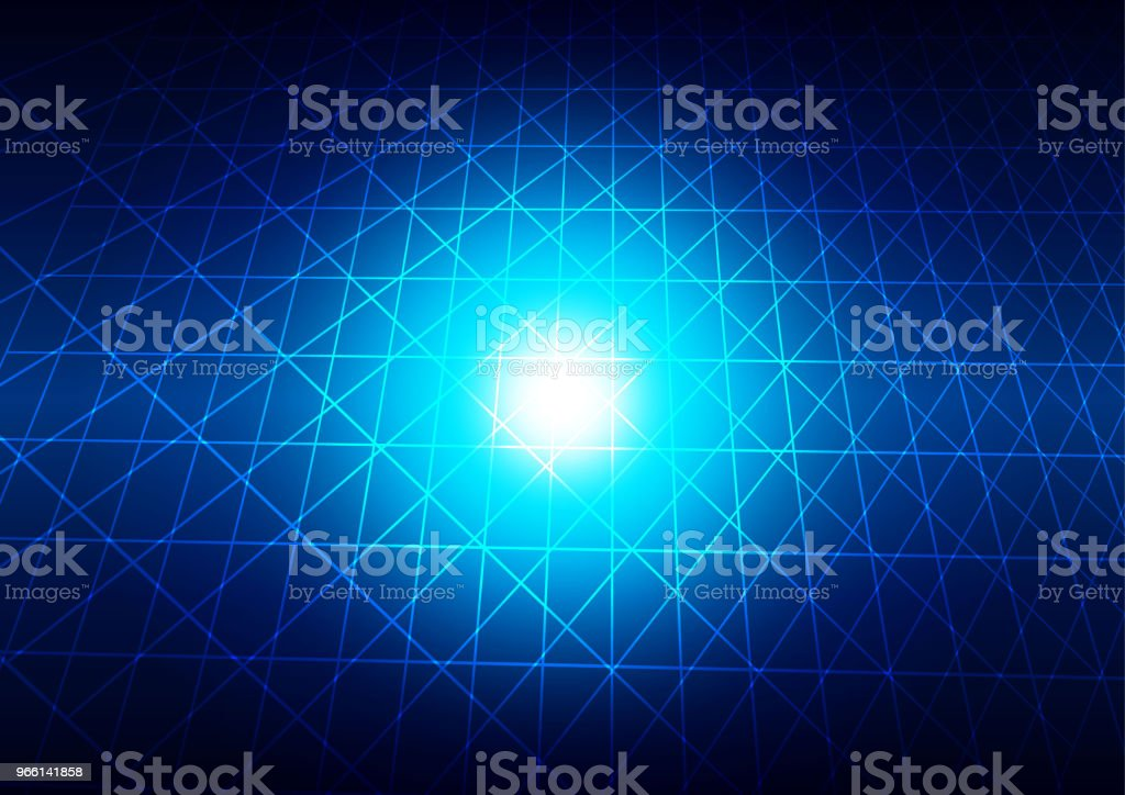 abstrakta rutnät med blå ljus bakgrund teknik koncept. illustration vektor design. - Royaltyfri Abstrakt vektorgrafik