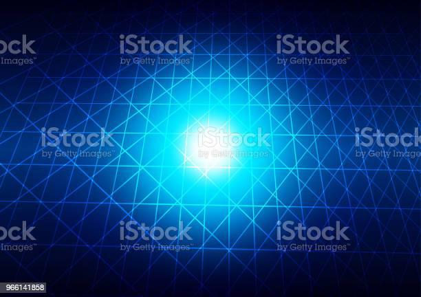 Abstrakta Rutnät Med Blå Ljus Bakgrund Teknik Koncept Illustration Vektor Design-vektorgrafik och fler bilder på Abstrakt