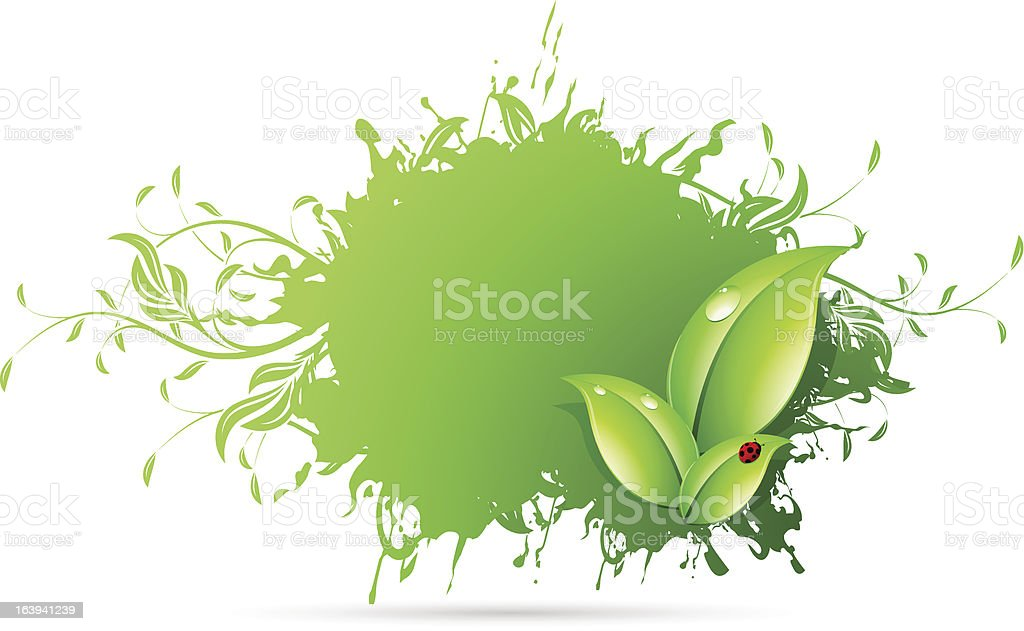 Abstract Grunge Background with Leaves royalty-free abstract grunge background with leaves stock vector art & more images of backgrounds