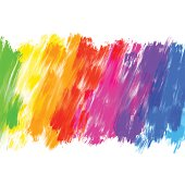 Multi coloured abstract grunge background. Brush strokes of different colors. No gradients. Vector EPS10