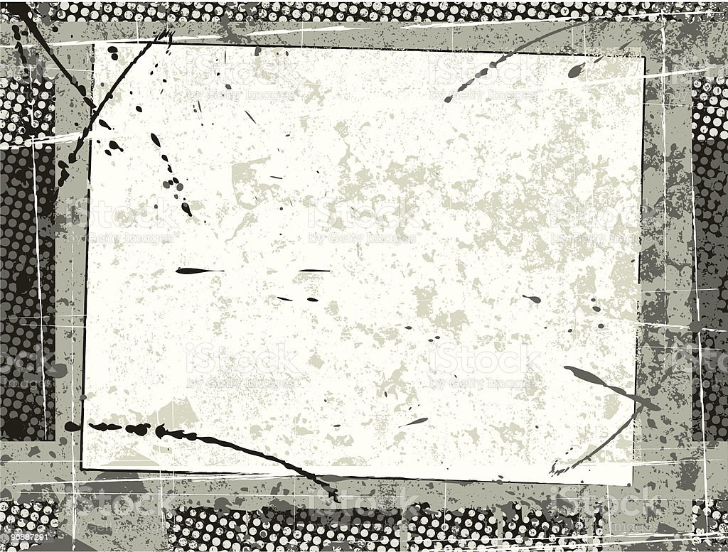 abstract grunge film frame vector art illustration