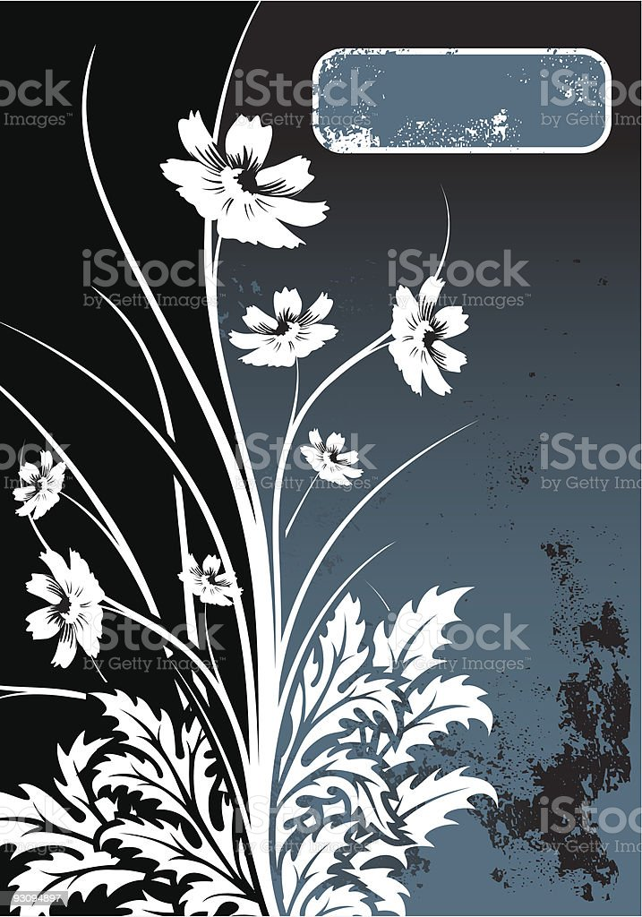 Abstract Grunge Floral Background royalty-free abstract grunge floral background stock vector art & more images of abstract