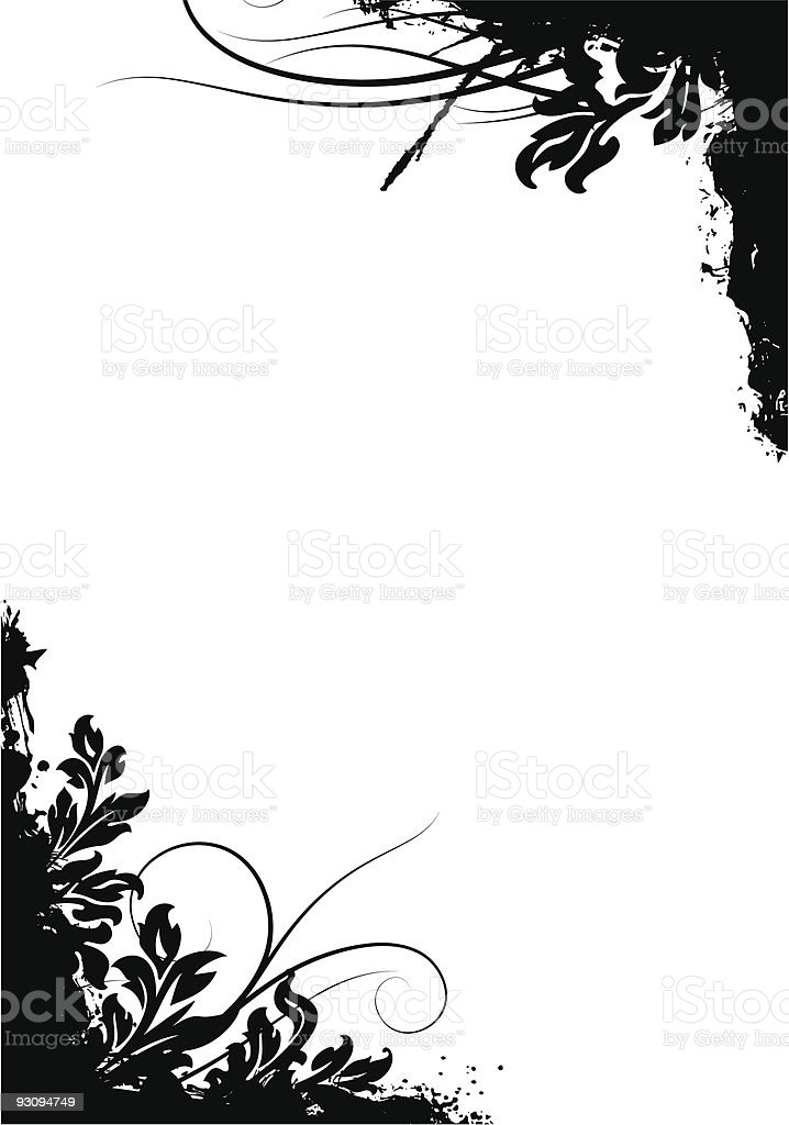 abstract grunge floral decorative background vector illustration royalty-free abstract grunge floral decorative background vector illustration stock vector art & more images of abstract