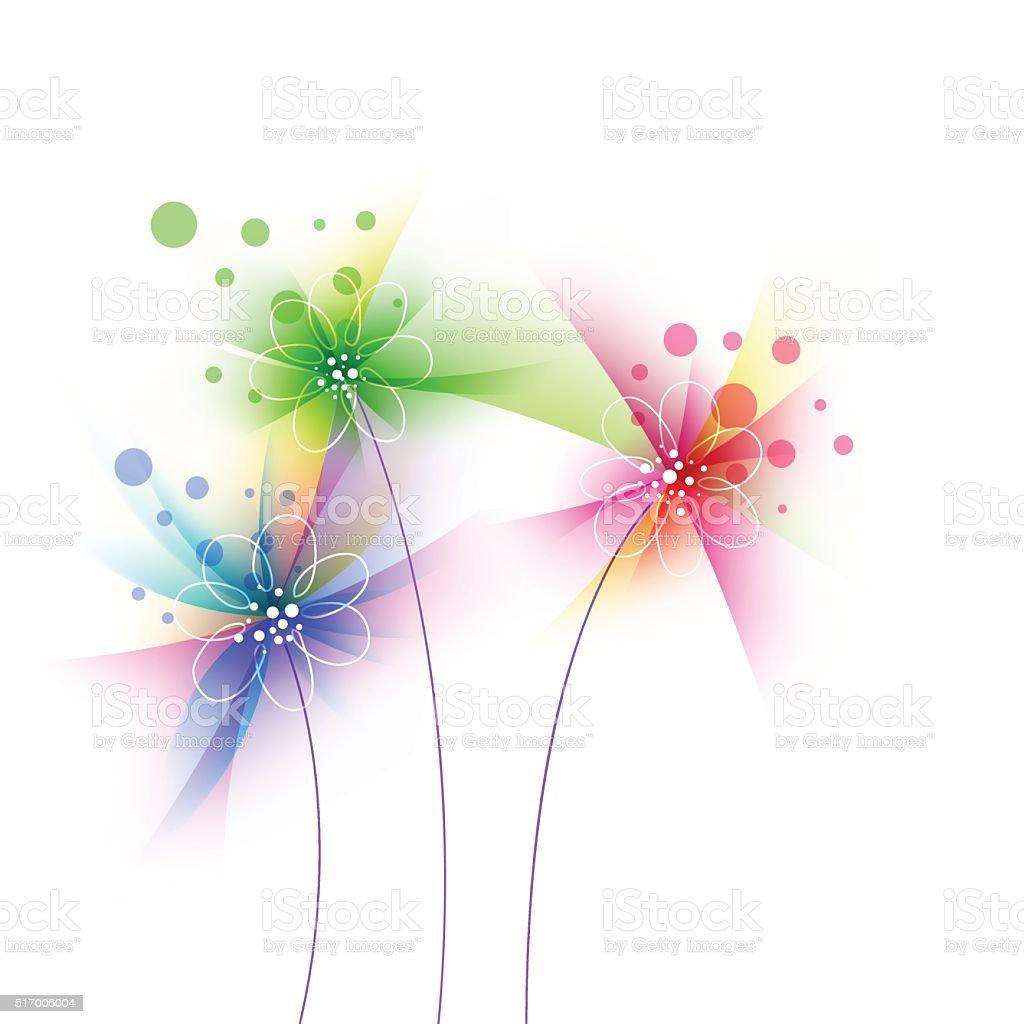 Sfondo Grunge Fiore Stilizzato Floreale Immagini Vettoriali Stock