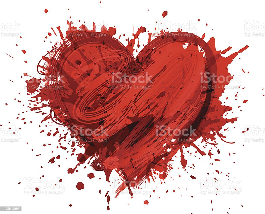 Abstract grunge heart shape royalty-free stock vector art