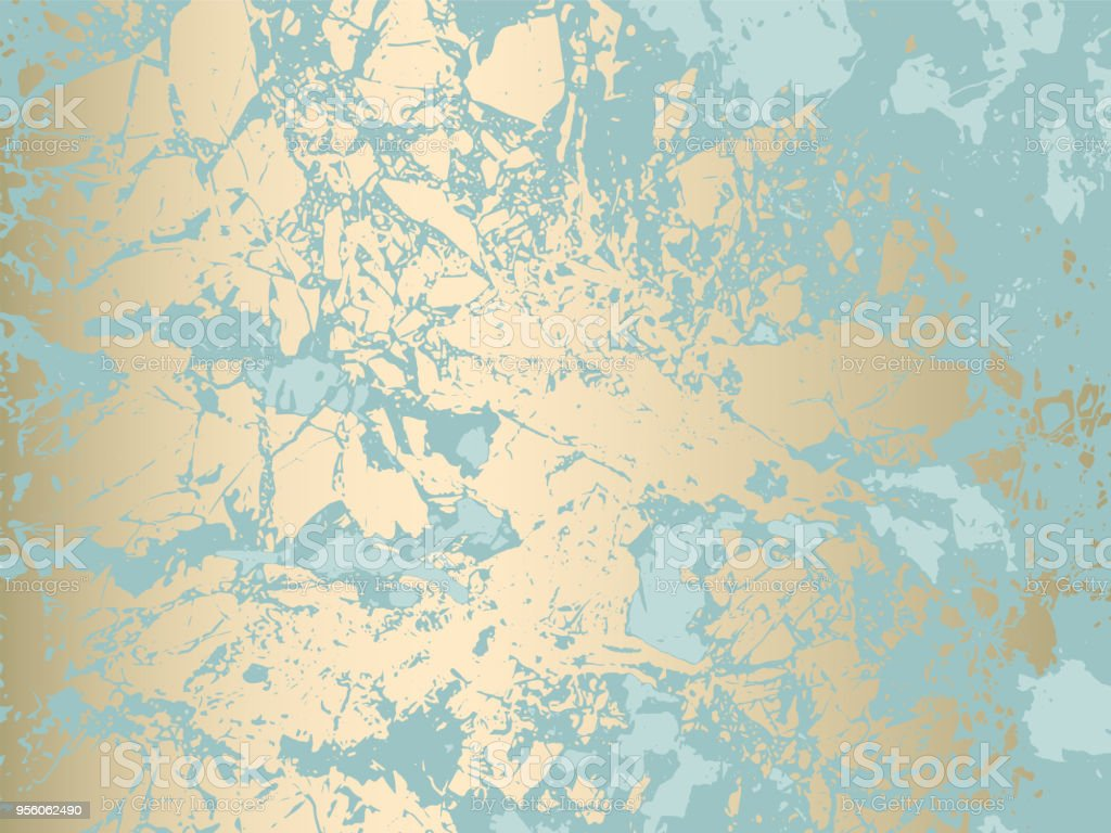 Abstract Grunge Pattina effect vector art illustration