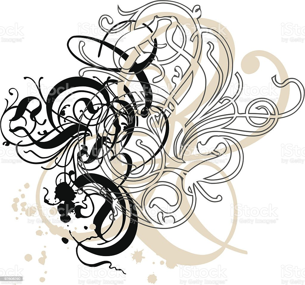 abstract grungy swirls royalty-free abstract grungy swirls stock vector art & more images of abstract