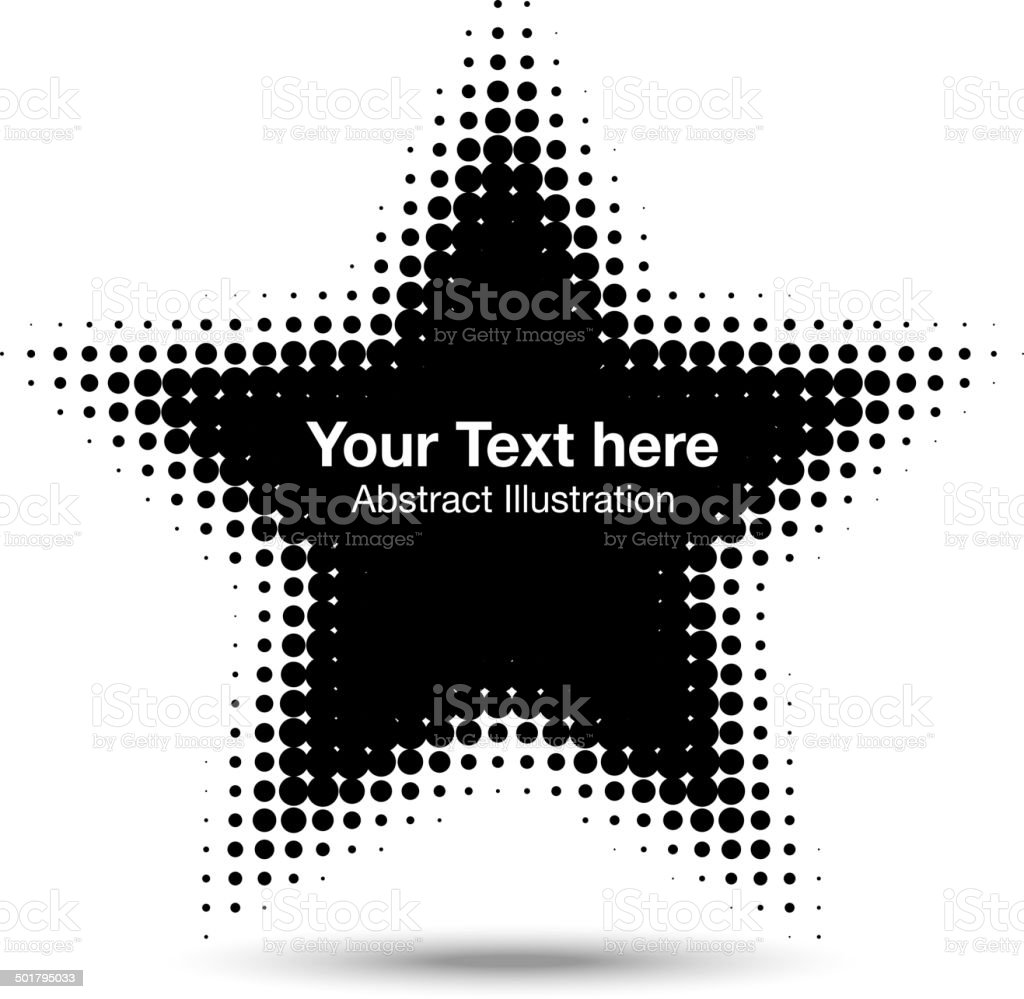 Abstract Halftone Design Element vector art illustration
