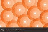 Circle, Geometric Shape, Bubble, Textile, Wallpaper - Decor, Orange color