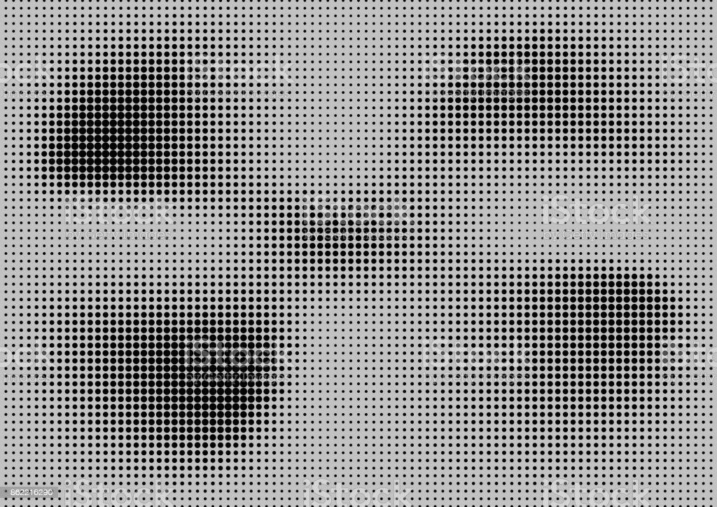 Abstrait Demi Teinte Ponctue De Texture Tendance Grunge Retro BD Fond Pop