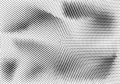 Abstract halftone dotted grunge pattern texture. Retro comic pop background. Vector modern grunge background for posters, sites, business cards, postcards, interior and cover design.