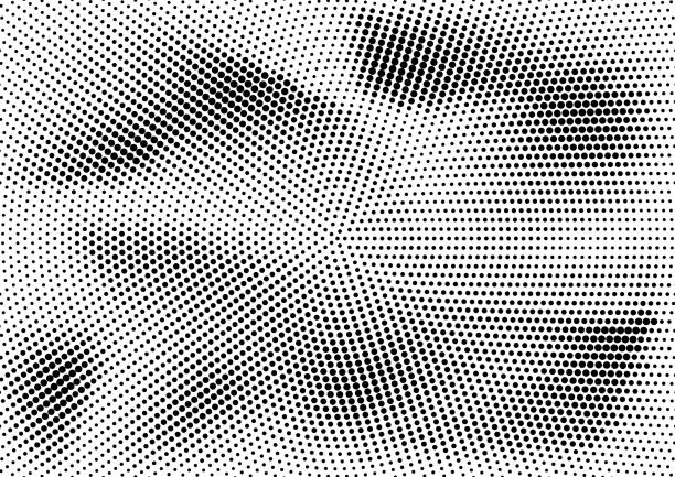 Abstract halftone dotted grunge pattern texture. Retro comic pop background. Vector modern grunge background for posters, sites, business cards, postcards, interior and cover design. Abstract halftone dotted grunge pattern texture. Retro comic pop background. Vector modern grunge background for posters, sites, business cards, postcards, interior and cover design good condition stock illustrations