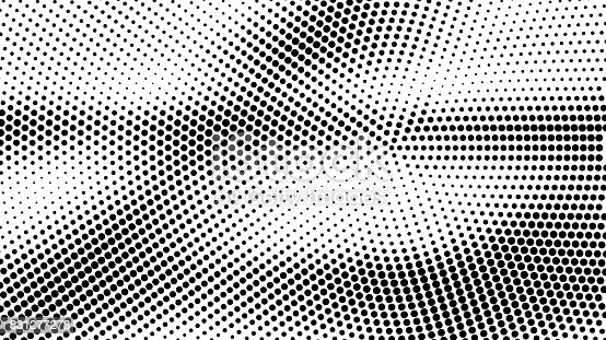 istock Abstract halftone dotted grunge pattern texture. Vector modern grunge background for posters, sites, business cards, postcards, interior design. 831277278