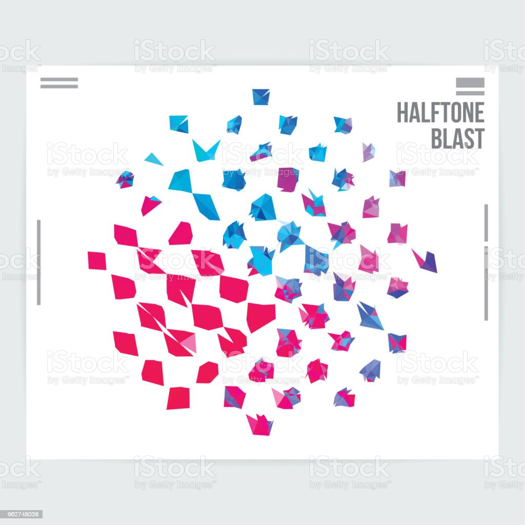 Abstract Halftone Graphic Design Pattern Layout Template - arte vettoriale royalty-free di Arte