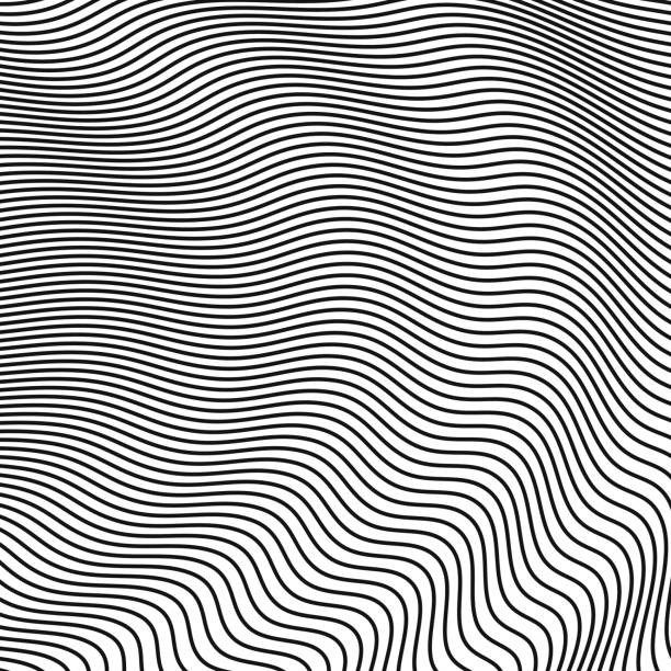 abstract halftone waves. vector background for design - in a row stock illustrations, clip art, cartoons, & icons