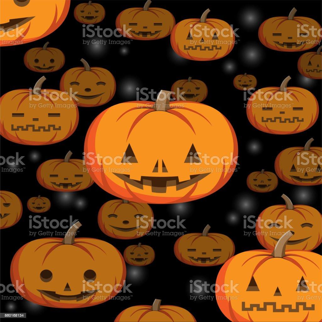 Modèle De Fond Citrouille Halloween Abstraite Cliparts Vectoriels
