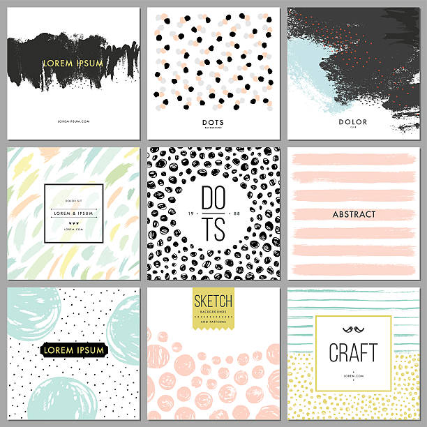 abstract hand drawn backgrounds - composition notebook cover stock illustrations, clip art, cartoons, & icons