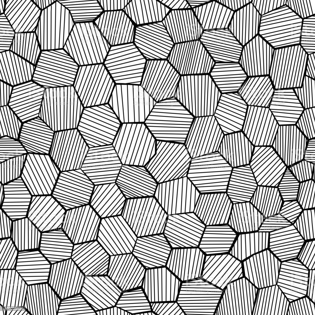 Abstrakte hand drawn honeycomb – Vektorgrafik