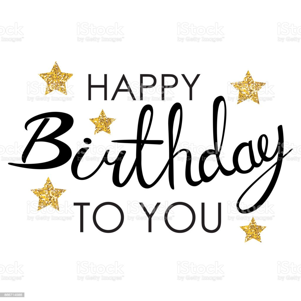 Happy Birthday Karte.Abstract Happy Birthday Background Card Template Vector Illustration