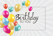 Abstract Happy Birthday Background Card Template Vector Illustration EPS10