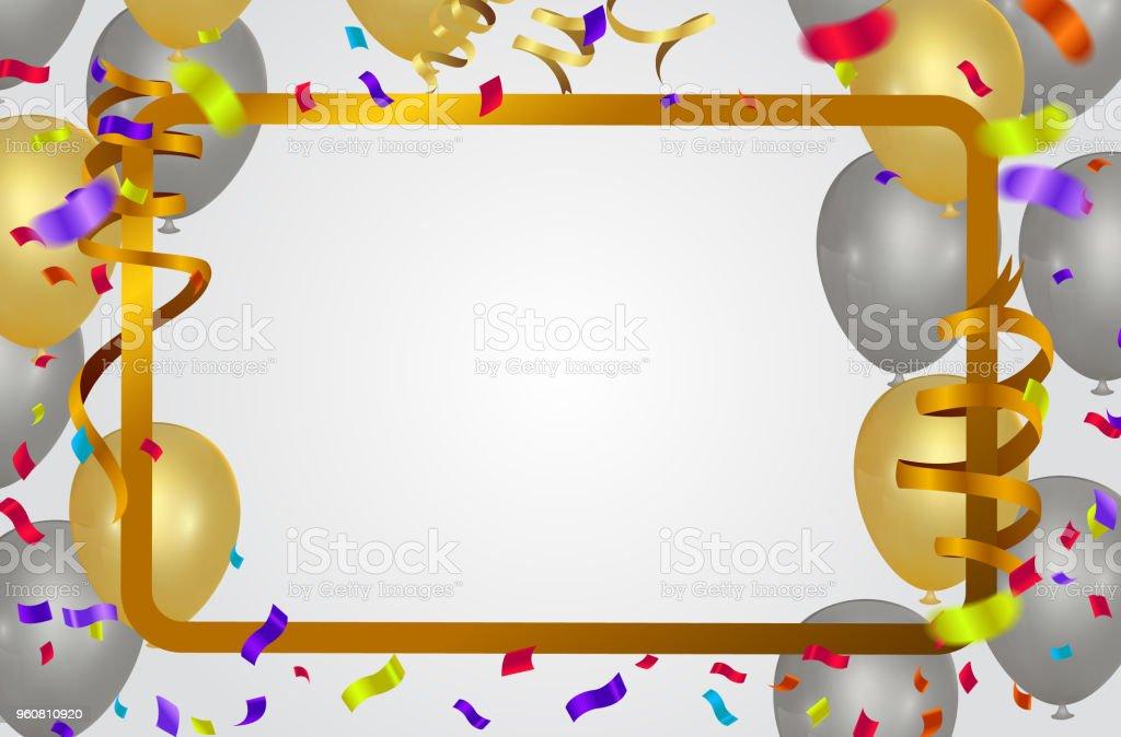 Banner Feliz Aniversario: Vetores De Banner De Festa De Feliz Aniversário Modelo