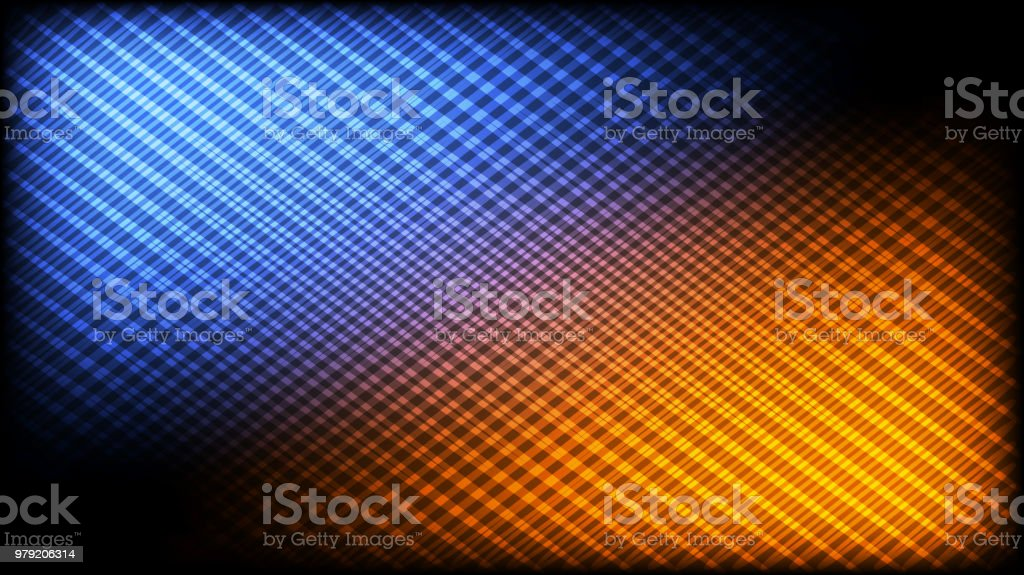 Abstract Hd Desktop Wallpaper In Blue Orange And Black Stock Illustration Download Image Now Istock