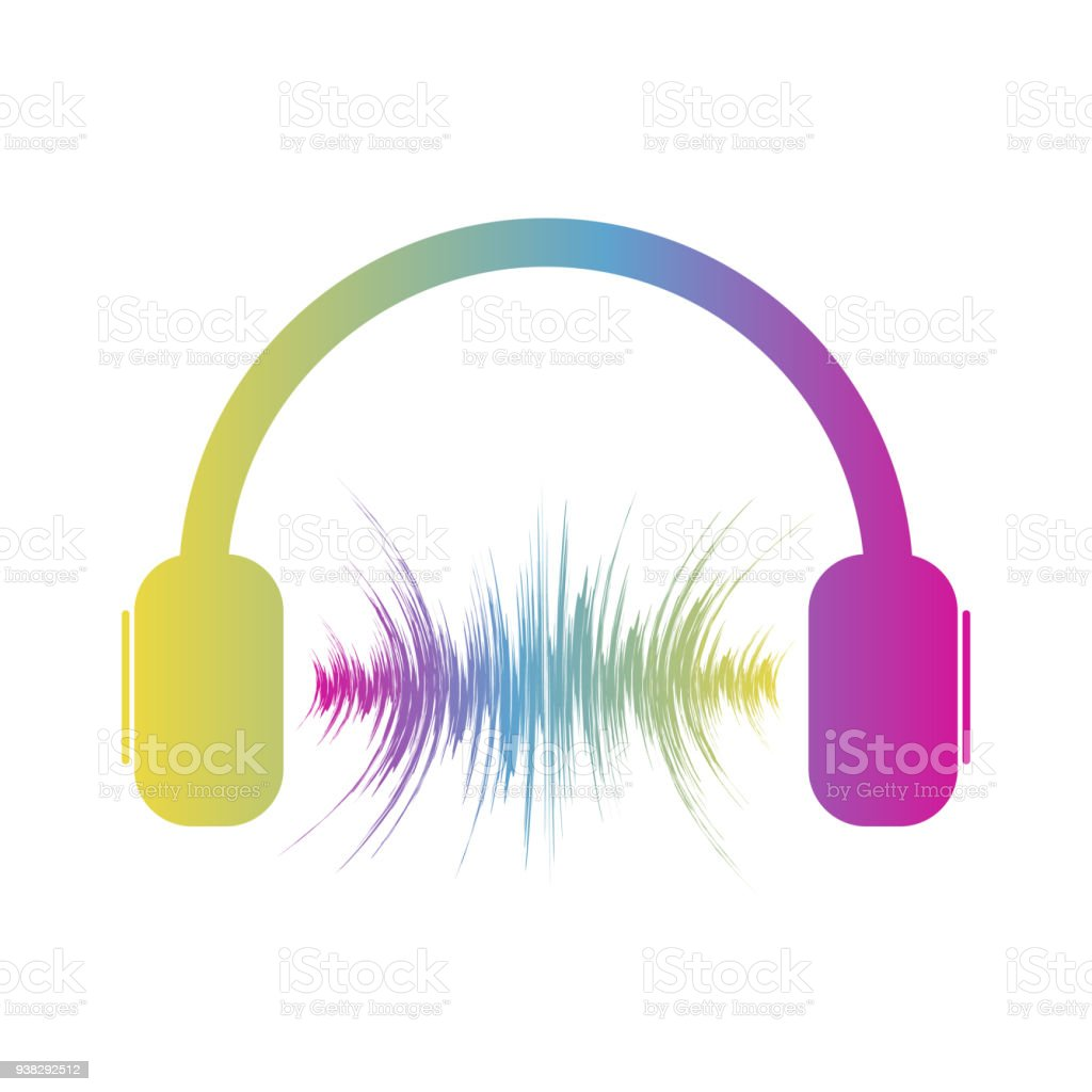 abstract headphone icon vector illustration stock vector art & more
