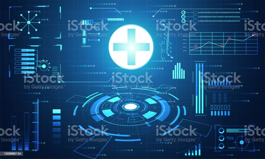 Abstract Health Medical Science Healthcare Plus Digital Technology Concept Modern TechnologyTreatmentmedicine