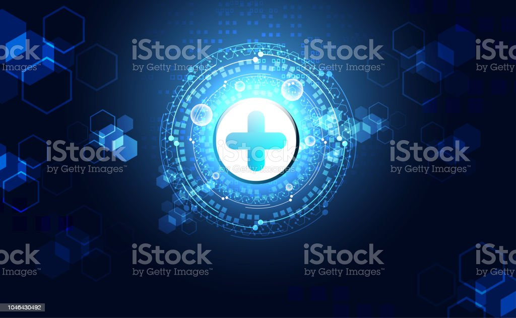 Abstract Health Science Consist Plus Digital Technology Concept Modern Medical TechnologyTreatmentmedicine