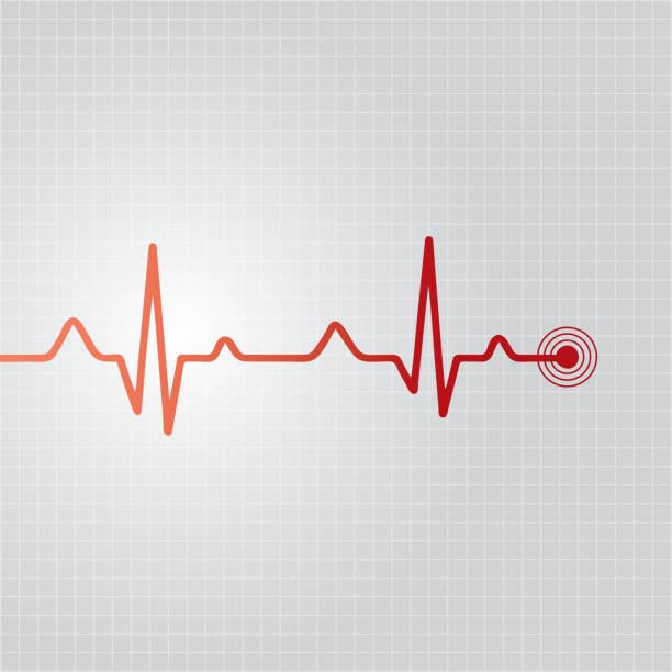 abstract heart beats cardiogram illustration - ecg stock illustrations, clip art, cartoons, & icons