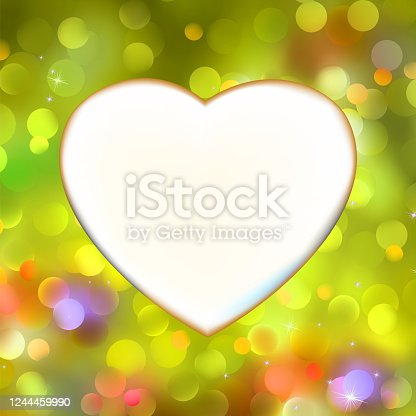 Abstract heart card in yellow. EPS 8 vector file included