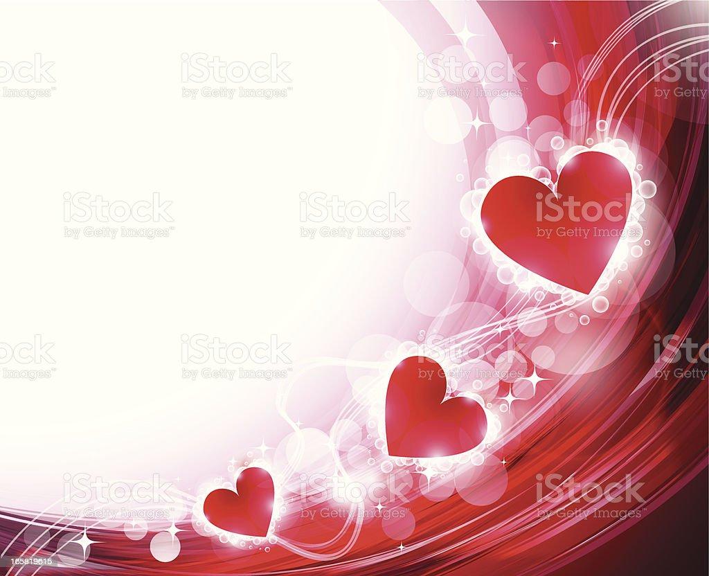 Abstract heart shape royalty-free stock vector art