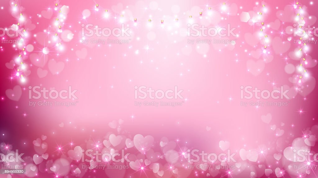 Abstract heart valentines background