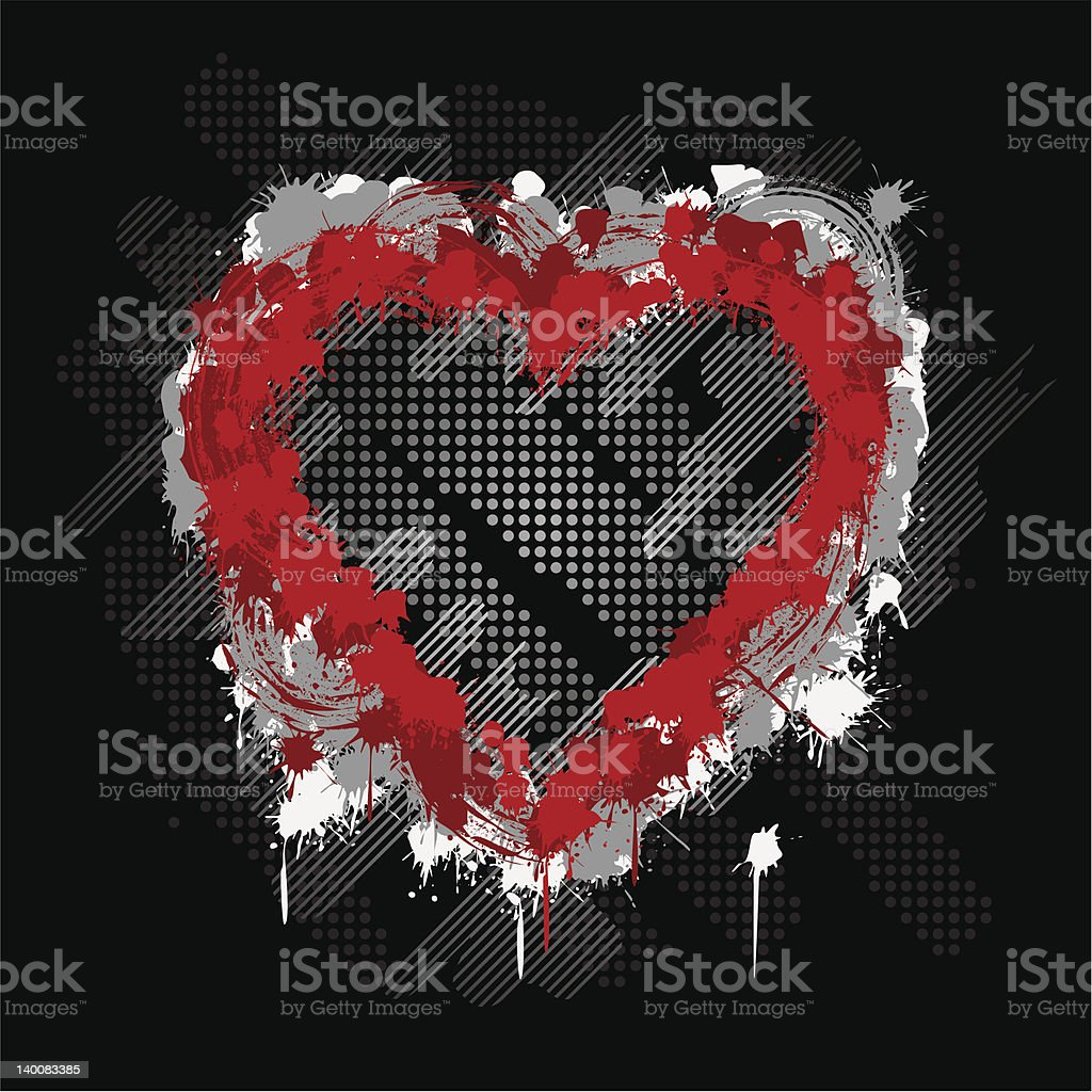 Abstract Heart vector art illustration