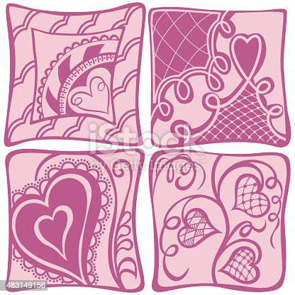 Abstract hearts background Valentines day