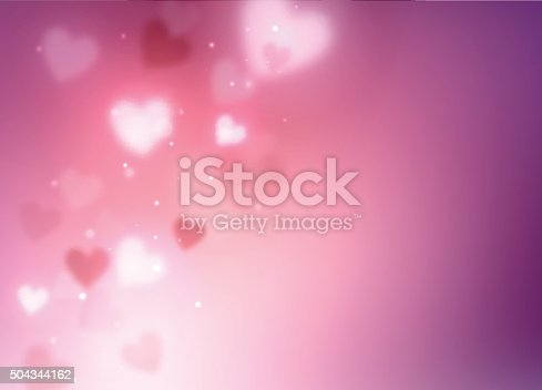 istock Abstract hearts background 504344162