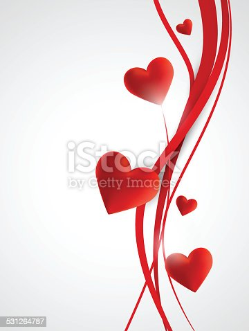 istock Abstract hearts background 531264787