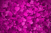 Abstract Hearts Vector Background