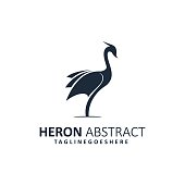 Abstract Heron Illustration Vector Template