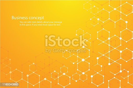 istock abstract hexagon background and space for write vector eps10 1160040883