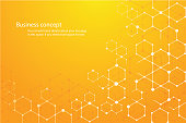 abstract hexagon background and space for write vector eps10