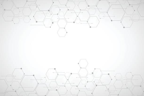 Abstrakte Sechseck Hintergrund, polygonale Technologiekonzept – Vektorgrafik
