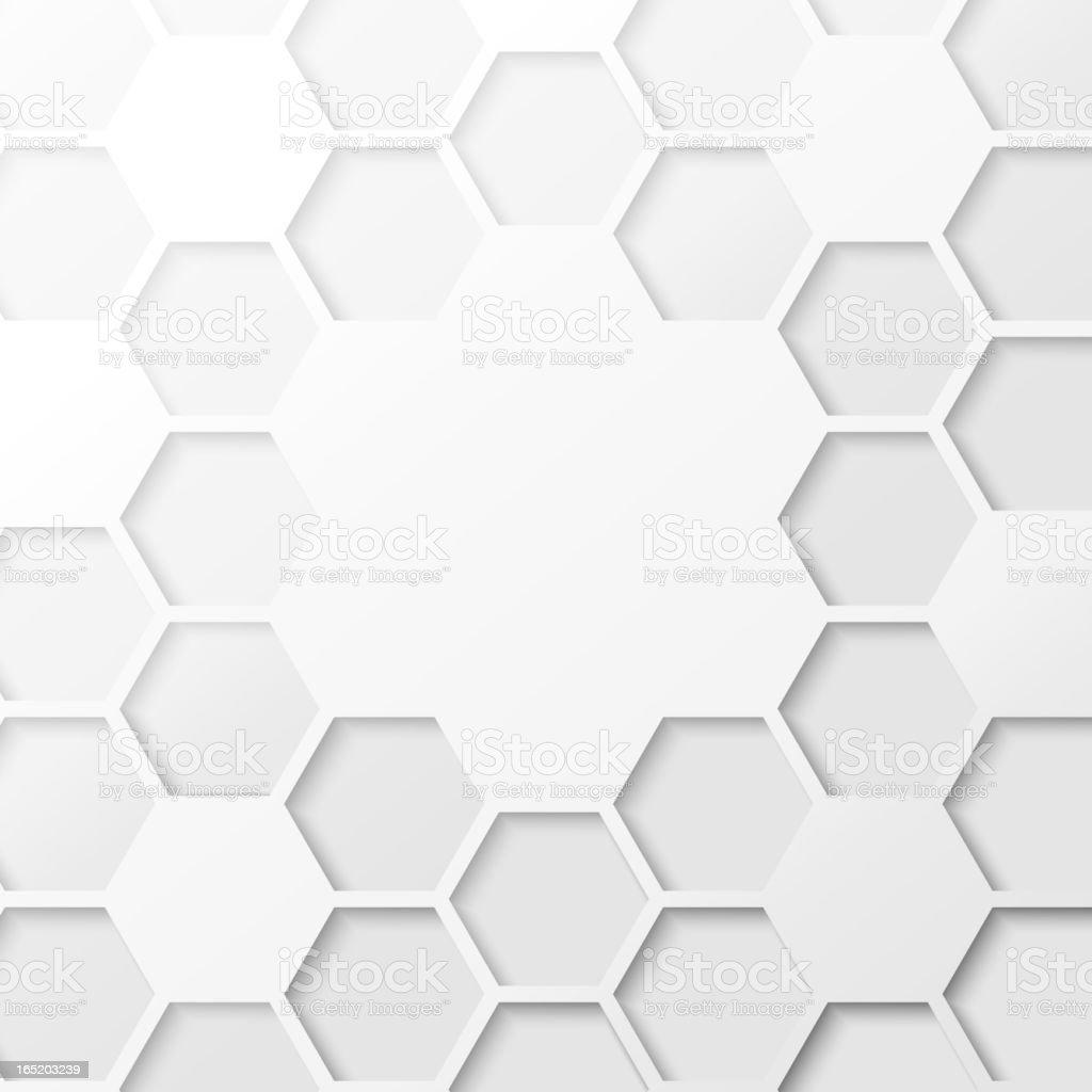 Abstract hexagon background. vector art illustration