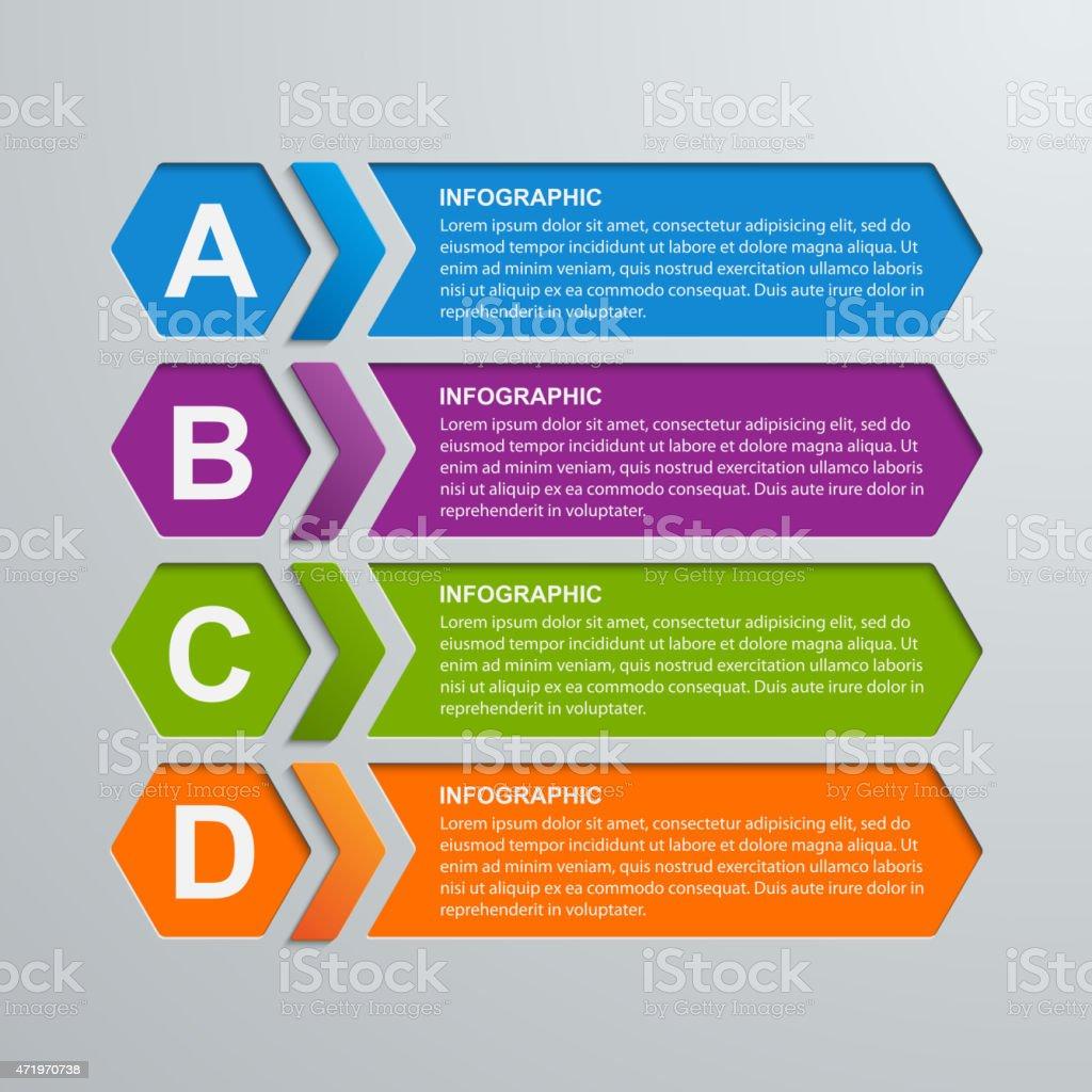 Abstract hexagon business options infographics template. vector art illustration